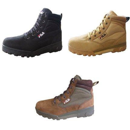 Fila-Boots-Stiefel-GRUNGE-MID-schwarz-beige-braun-2414-Wildleder